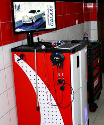 stacja kontroli pojazdów komputer diagnostyczny